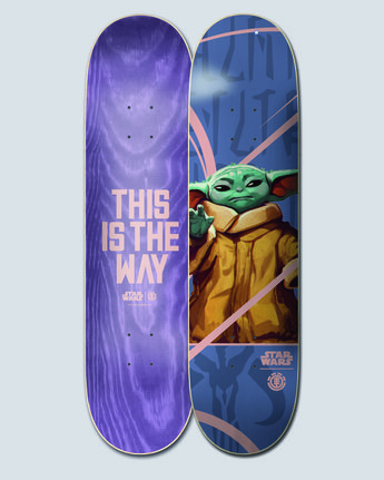 "Star Wars X Element 8.5"" Child - Skateboard Deck  U4DCK6ELF0"