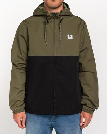 1 Wolfeboro Alder Light 2 Tones - Lightweight Water Resistant Jacket for Men Black W1JKC1ELP1 Element
