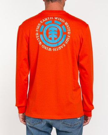 3 Seal - T-shirt manches longues pour Homme Orange W1LSB6ELP1 Element