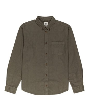 0 Bold Spring - Long Sleeve Shirt for Men Green W1SHB9ELP1 Element