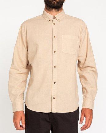 1 Bold Spring - Long Sleeve Shirt for Men Beige W1SHB9ELP1 Element