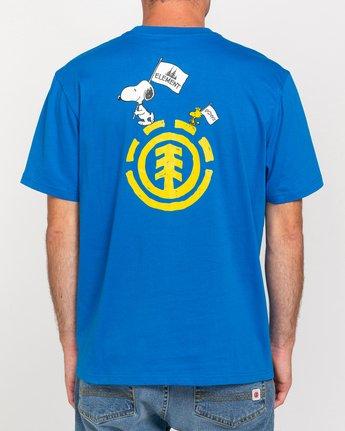 3 Peanuts Slide - T-Shirt for Men Blue W1SSO3ELP1 Element