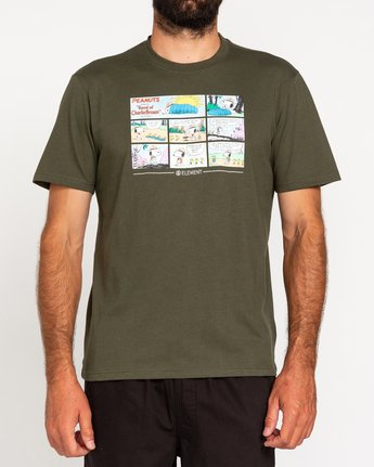 2 Peanuts Camper - T-Shirt for Men Green W1SSO4ELP1 Element