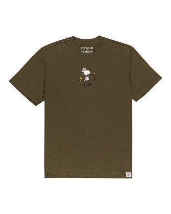 0 Peanuts Element - T-Shirt for Men Green W1SSO5ELP1 Element