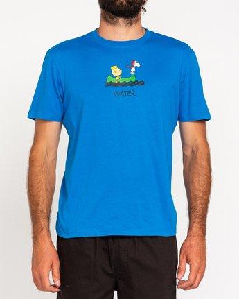 2 Peanuts Element - T-Shirt for Men Blue W1SSO5ELP1 Element