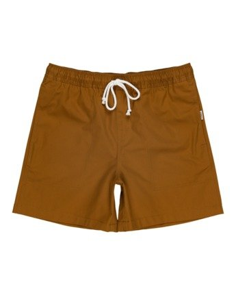 "Manual Twill 17"" - Elasticated Shorts for Men  W1WKC4ELP1"