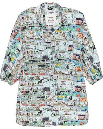 Peanuts Marshmallow - Oversized Mini Shirt Dress for Women  W3DRD2ELP1