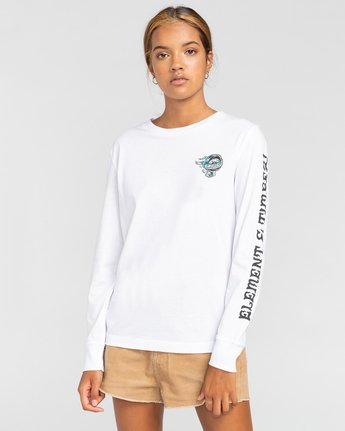 0 Antidote - T-shirt manches longues pour Femme Blanc W3LSA1ELP1 Element
