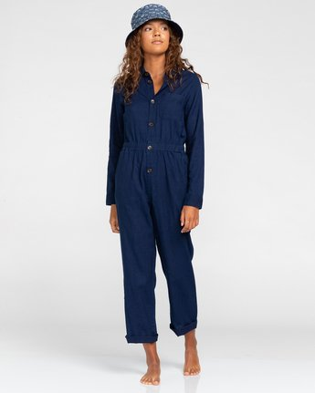 Elise Indigo - Long Sleeve Jumpsuit for Women  W3PTB8ELP1