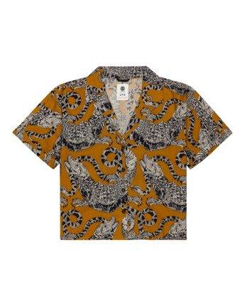 Java - Short Sleeve Shirt for Women  W3SHB2ELP1