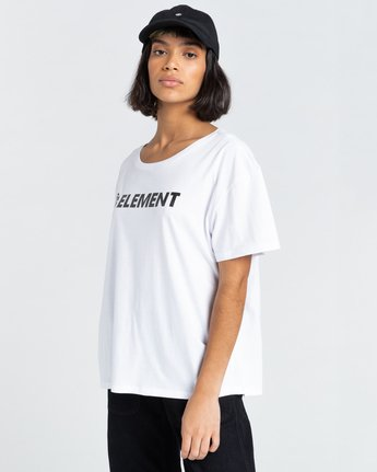 2 Element Logo - T-shirt pour Femme Blanc W3SSB7ELP1 Element