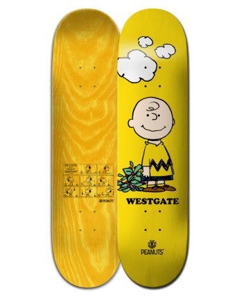 """8"""" Peanuts Charlie Brown x Westgate - Skateboard Deck  W4DCA2ELP1"""