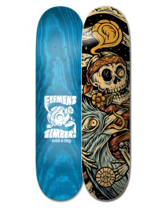 "8.25"" Timber High Dry Skull - Skateboard Deck  W4DCB6ELP1"