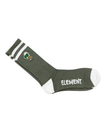 2 Peanuts - Athletic Skate Socks for Men Green W5SOA5ELP1 Element