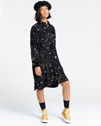 Hazel - Oversized Midi Shirt Dress for Women  Z3DRC8ELF1