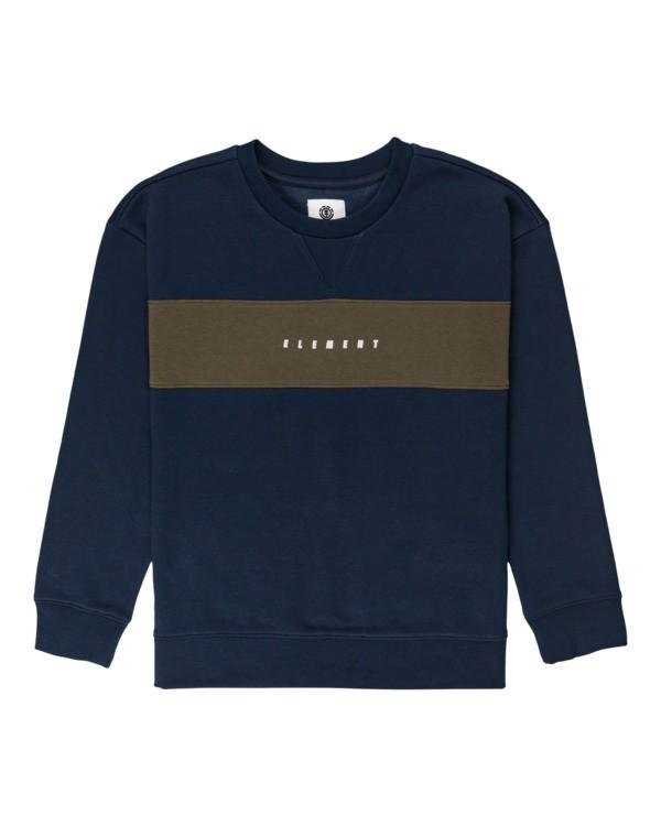 0 Boys' Sergio Crewneck Sweatshirt Blue ALBFT00138 Element
