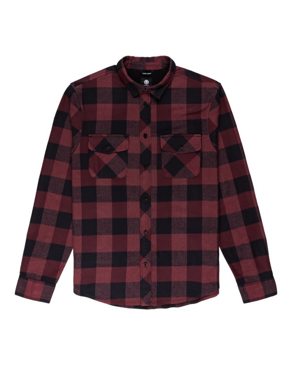 0 Tacoma Flannel Shirt Red ALYWT00121 Element