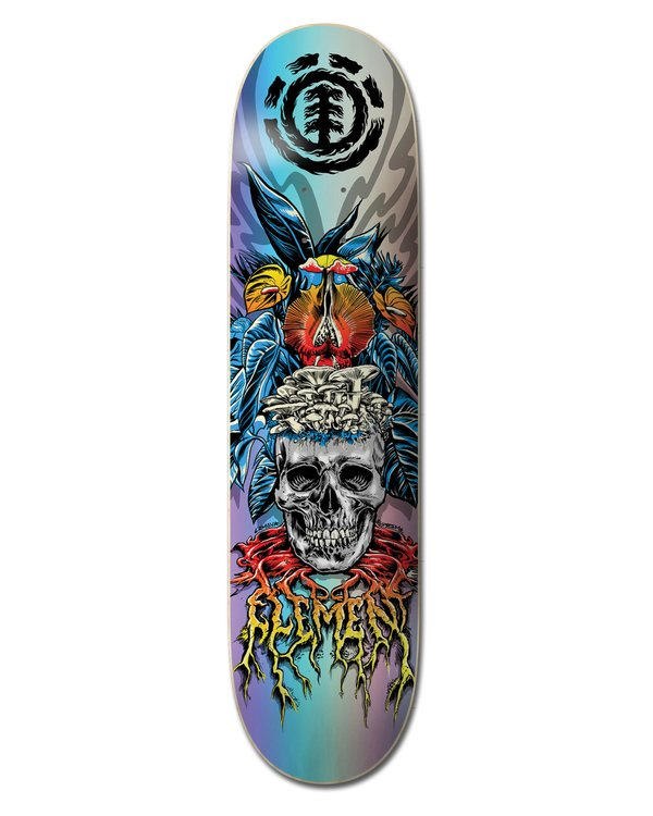 0 L'Amour Skull Skateboard Deck Multicolor ALYXD00112 Element