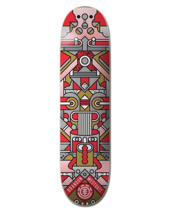 0 Superbot Westgate Skateboard Deck Multicolor ALYXD00158 Element