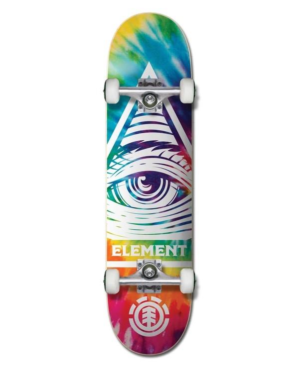0 Eye Trippin' Rainbow Complete Skateboard Multicolor ALYXW00106 Element