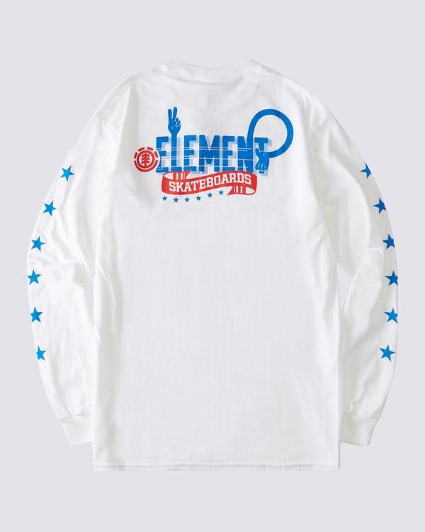 0 Star Peace Long Sleeve T-Shirt White ALYZT00176 Element