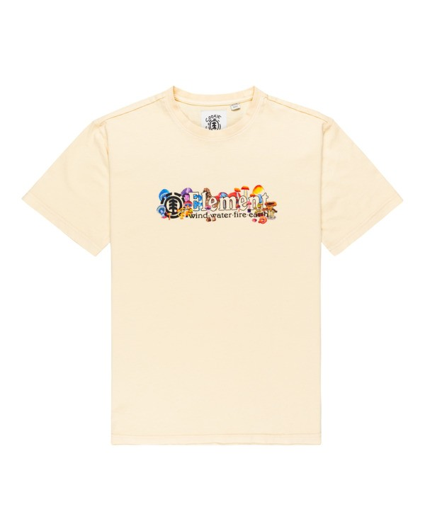 0 Vertical Shrooms Short Sleeve T-Shirt Beige ALYZT00271 Element