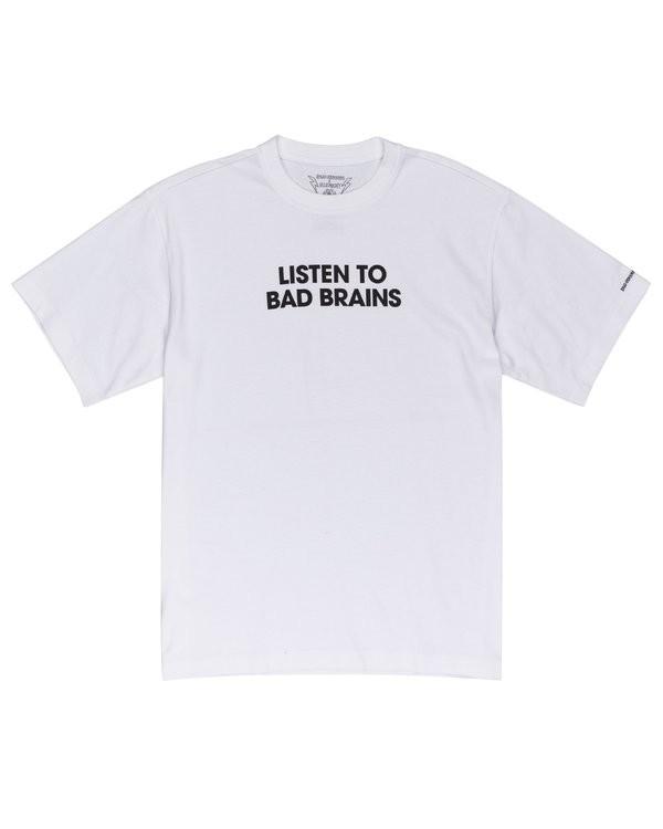 0 Listen to Bad Brains T-Shirt White ALYZT00334 Element