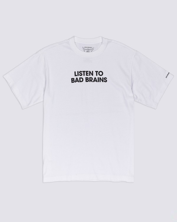 0 Listen to Bad Brains T-Shirt White ALYZT00334 Element