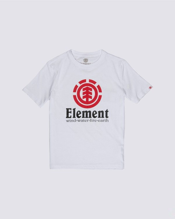 0 Boys' Vertical T-Shirt White B401TEVE Element