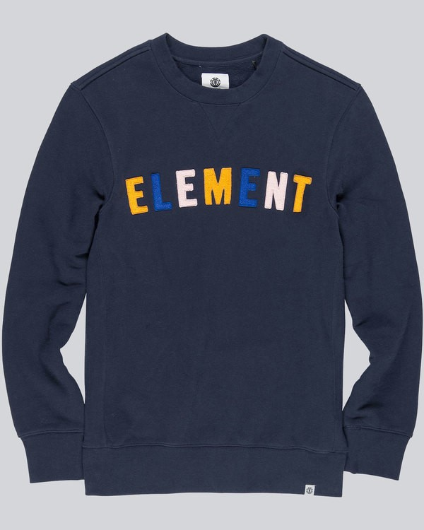 0 Boy's Link Crew Neck Fleece Blue B642QELC Element