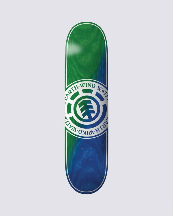 0 Seal Green Blue Skateboard Deck Multicolor BDLG3RGB Element