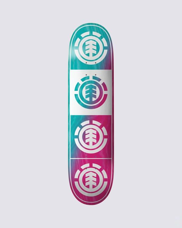 0 Quadrant Teal Pink Skateboard Deck  BDLG3RTP Element