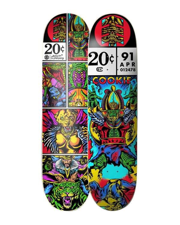0 Asar Cookie Skateboard Deck  BDPR3LSC Element