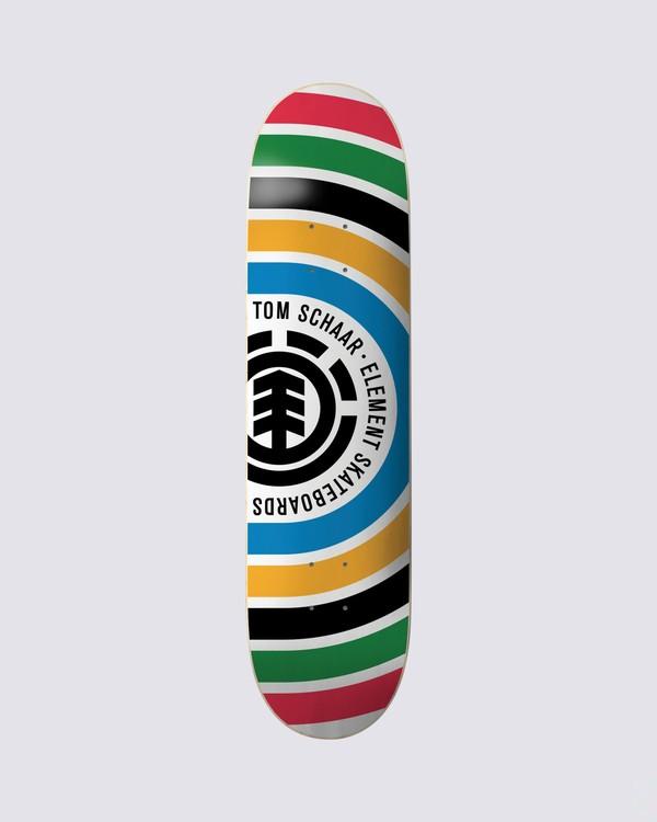 0 Schaar Rings Skateboard Deck Multicolor BDPR3TSR Element