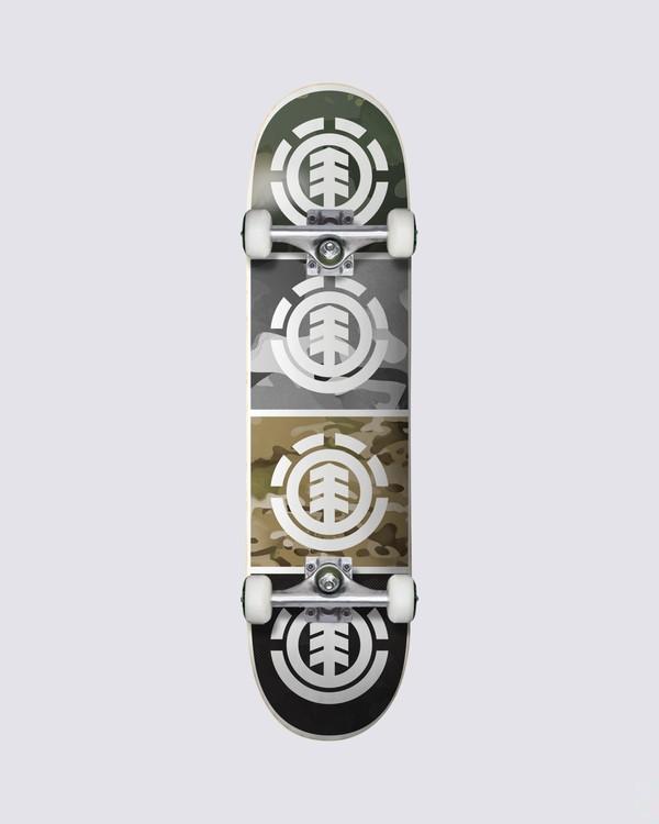 0 Camo Quadrant Skateboard Complete  COLG3QAD Element