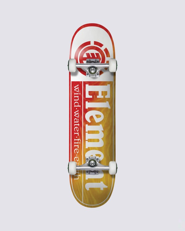 0 Section Yellow Red Skateboard Complete  COLG3RYR Element