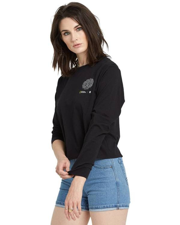 0 Nat Geo Long Sleeve T-Shirt Black J4011ENA Element
