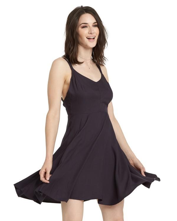 0 Heart Twill Dress Black JD331EHT Element