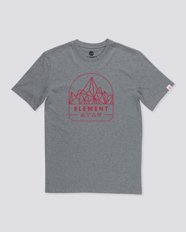 0 Summit Point T-Shirt Grey M4012ESU Element