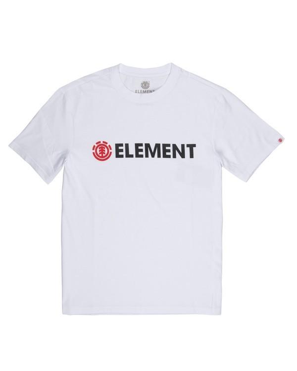 0 Blazin' T-Shirt White M401QEBL Element