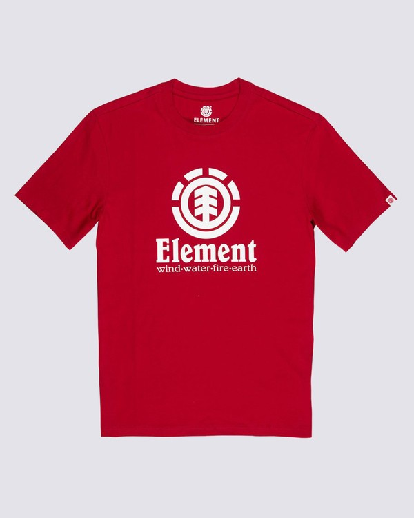 0 Vertical T-Shirt Red M401QEVE Element