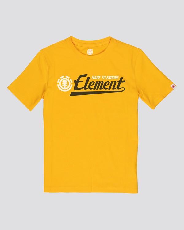 0 Signature T-Shirt Yellow M401VESI Element