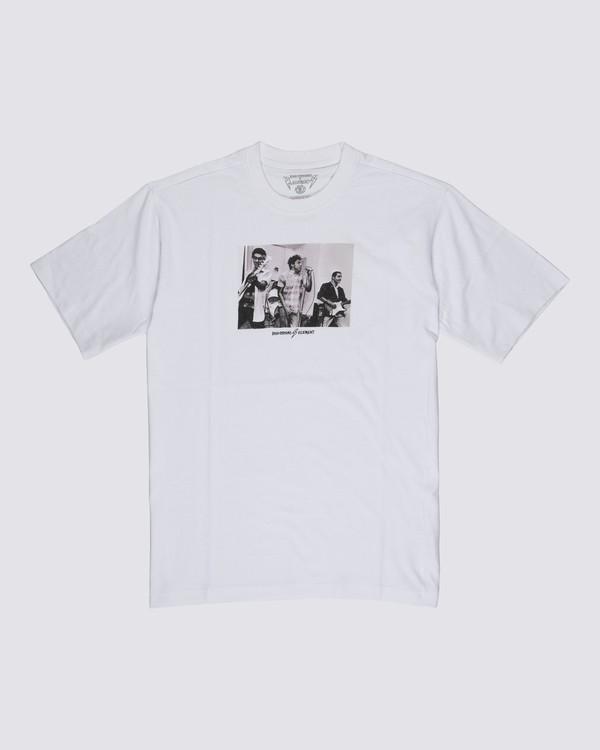 0 Bad Brains 2318 T-Shirt White M4031E23 Element