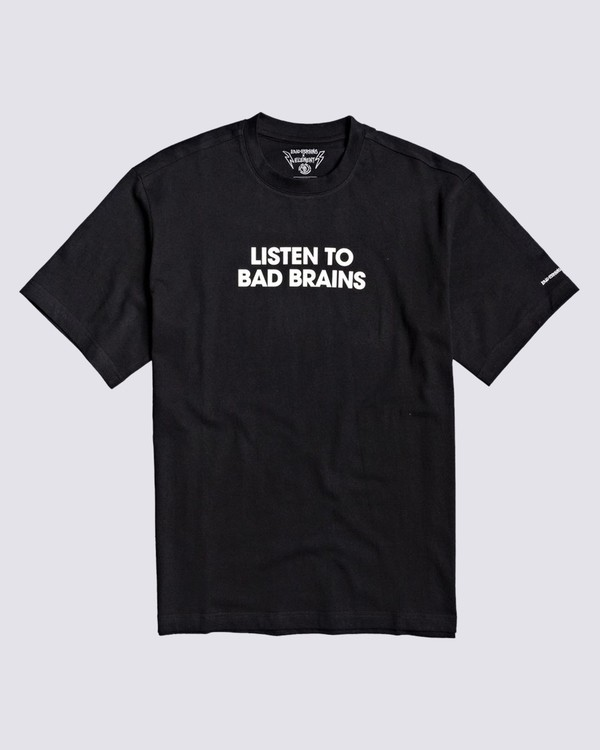 0 Listen to Bad Brains T-Shirt Blue M4031ELI Element