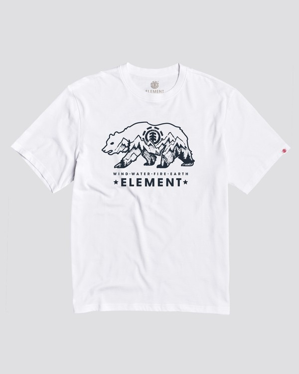 0 Walking Bear T-Shirt White M4501EWS Element