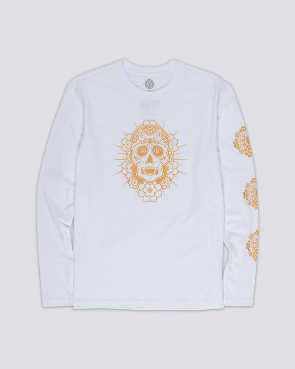 0 Cataclysm Long Sleeve Tee White M475WECA Element