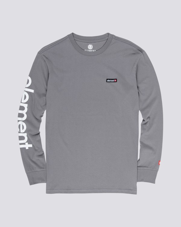 0 Dawn Long Sleeve T-Shirt Grey M480VEPR Element