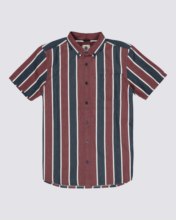 0 Icon Stripes Shirt Blue M5261EIC Element