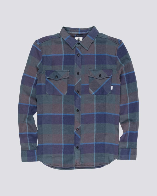 0 Tacoma 3C Long Sleeve Shirt Grey M566VET3 Element