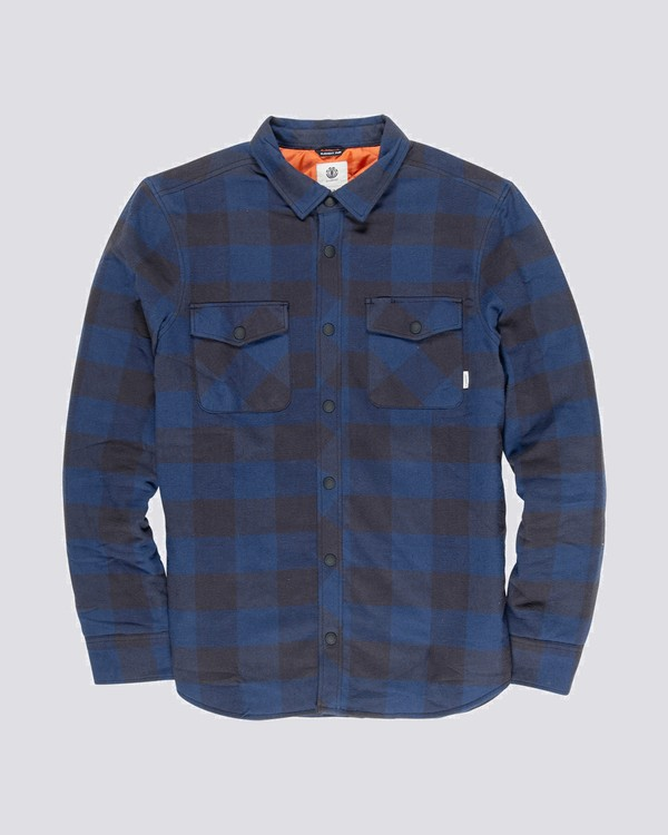 0 Tacoma Quilted Long Sleeve Shirt Blue M568VETQ Element